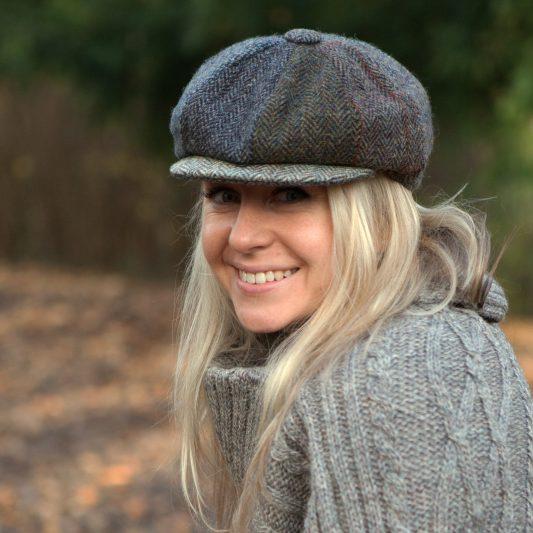 8-piece Harris Tweed cap