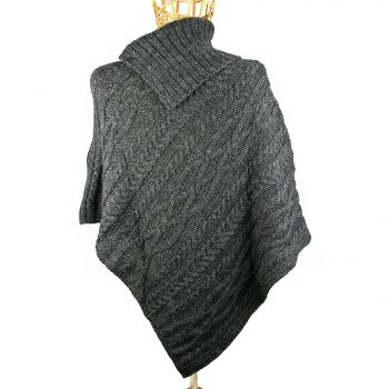 Charcoal Poncho Back