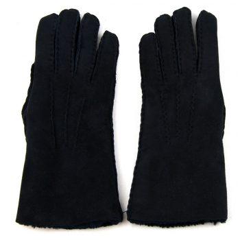 Black Ladies Lambskin Gloves Backs