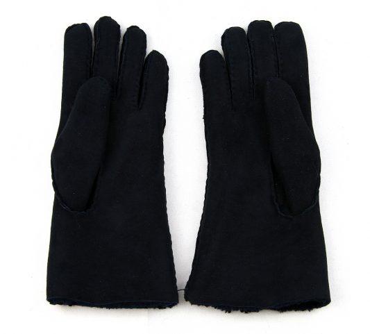 Black Ladies Lambskin Gloves Palm