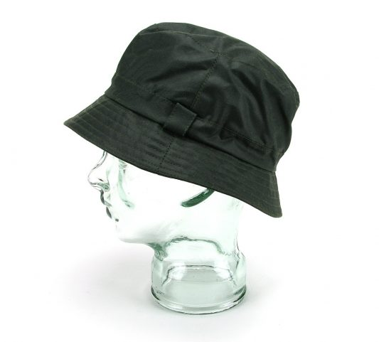 Green wax poacher bucket hat