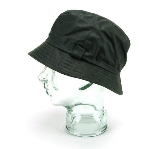 Green wax poacher bucket hat