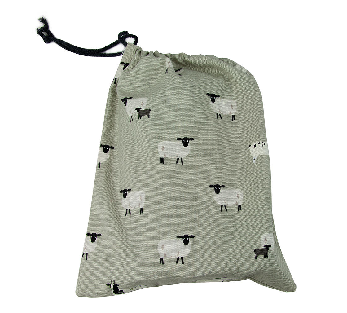 ES sheep drawstring bags