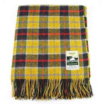 Glencroft Travel Rug Yellow Navy