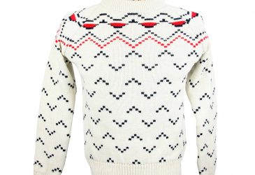 Glencroft merino wool chevron ski jumper front