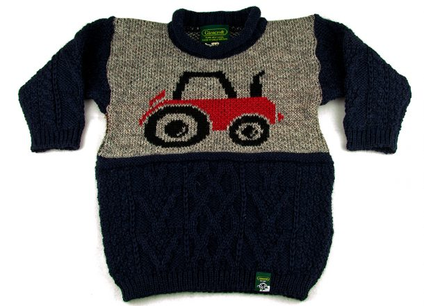 PE kids tractor front fold arms