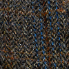 Dark Brown Blue Herringbone