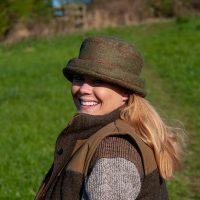 Teflon Coated Tweed Glencroft Cloche Hat