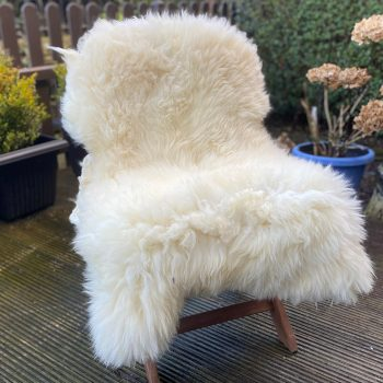 FB untrimmed natural white chair