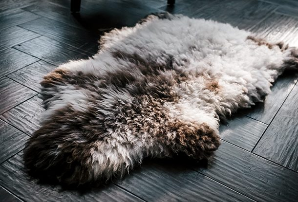Glencroft British rare breed sheepskin rug