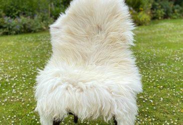 FB hairy white chair