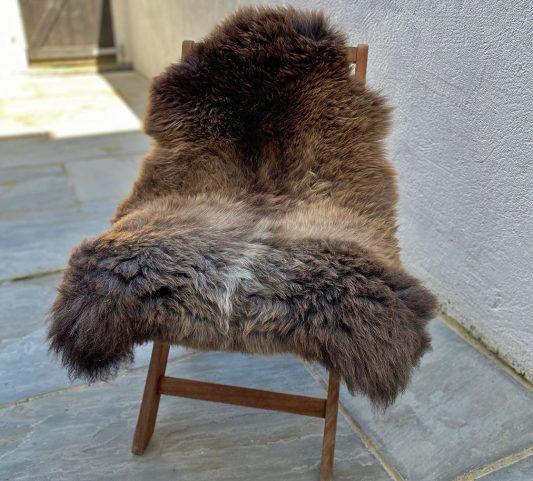 FB large dark brown wolfie chair