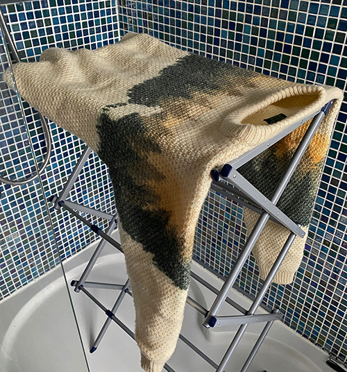 Drying a British Wool jumper
